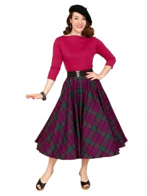 Circle Skirt Heather Tartan
