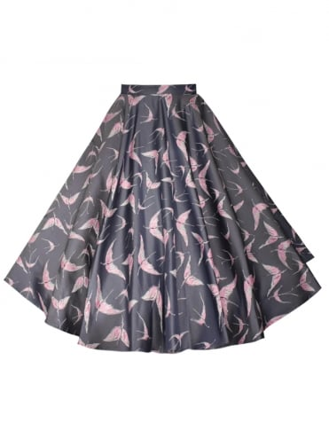 Circle Skirt Jacquard Bird