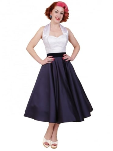 Circle Skirt Navy Duchess