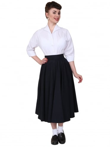 Circle Skirt Navy Flannel