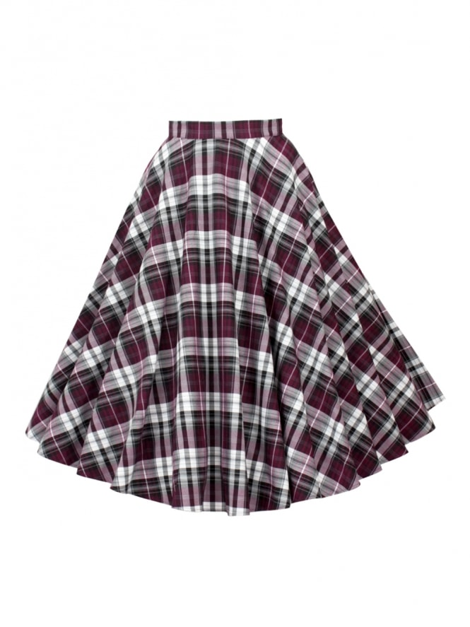 Circle Skirt Purple Tartan