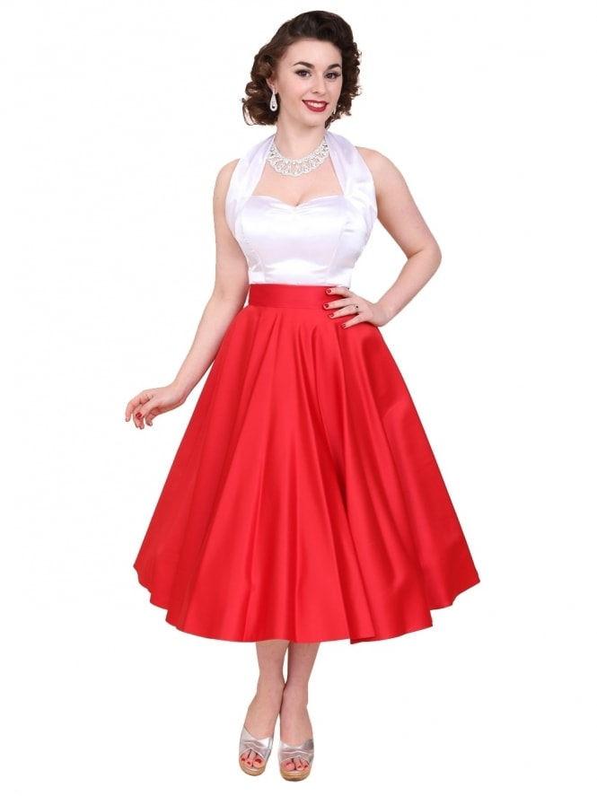 Circle Skirt Red Duchess