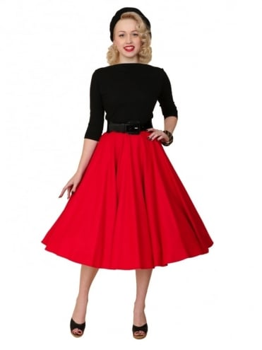 Circle Skirt Red Flannel