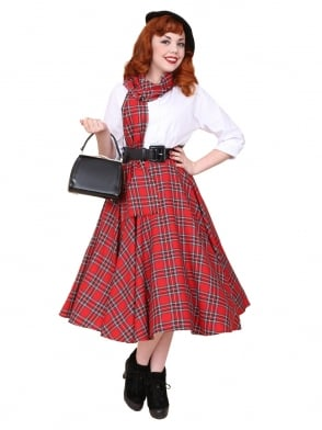 Circle Skirt Red Tartan