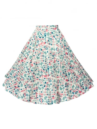 1950s-Circle-Skirt-Scooter-Rockabilly-Swing-Pinup