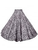 Circle Skirt Silver Leopard
