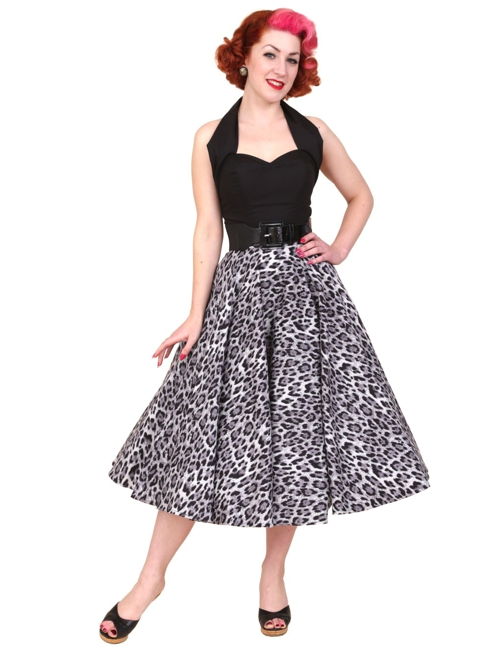 bff740b955b2 1950s Circle Skirt Silver Leopard from Vivien of Holloway