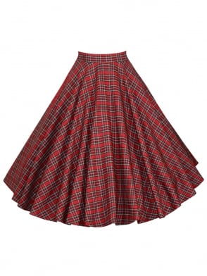 Circle Skirt Small Red Tartan