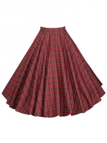 Circle Skirt Small Red Tartan