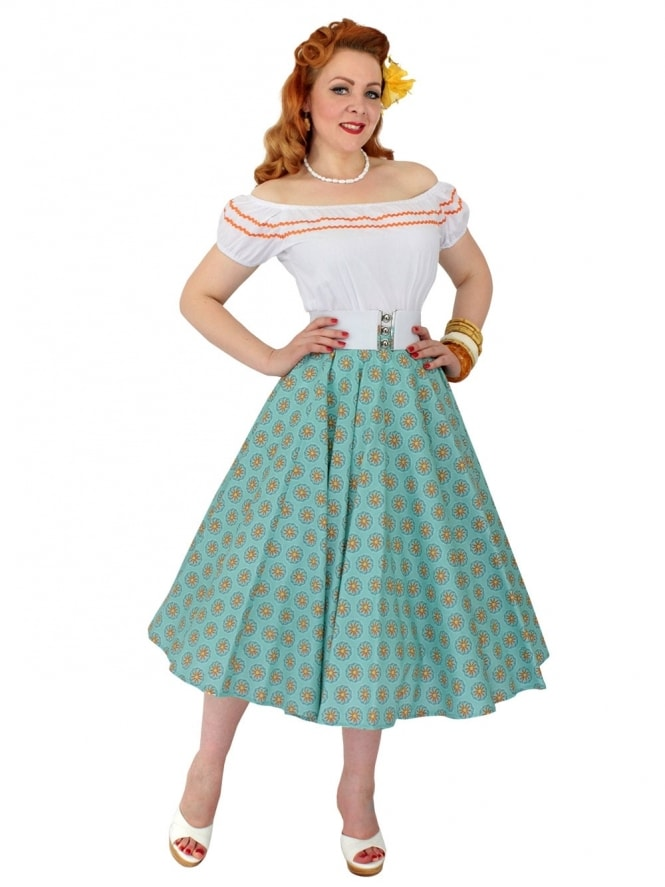 Circle Skirt Wagon Wheel