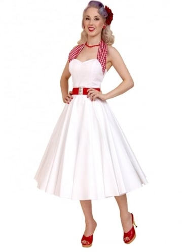 Circle Skirt White Sateen