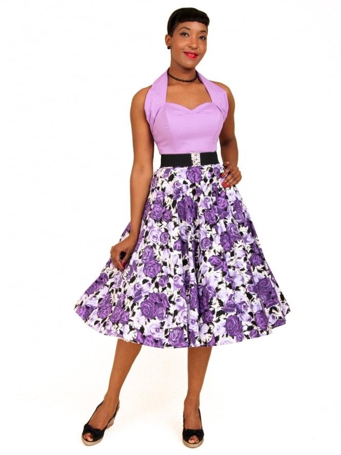 Circle Skirt Wild Rose Purple