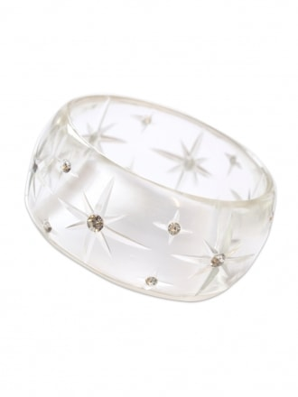 Clear Starburst Bangle