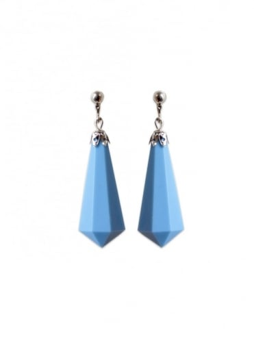 Cornflower Screw Back Earrings