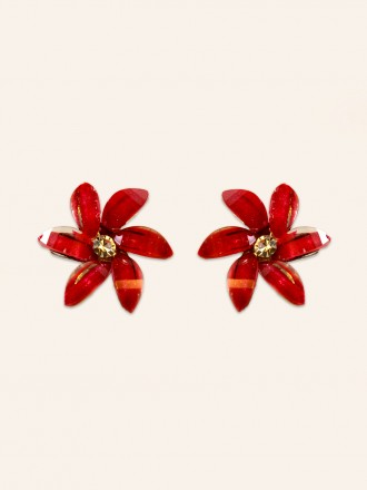 Crimson Petal Earrings