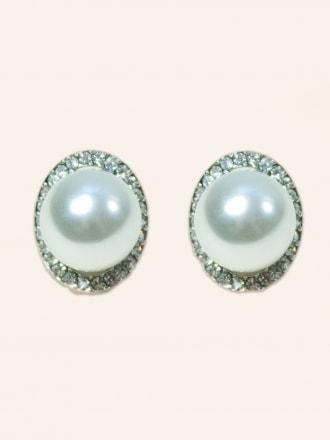 Crystal Pearl Orb Earrings