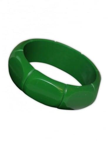 Deco Bamboo Bangle Jade