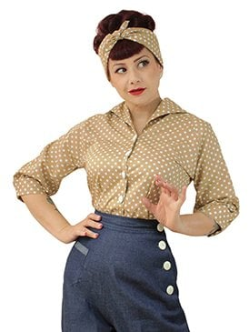 1940s And 1950s Tops From Vivien Of Holloway Made In London