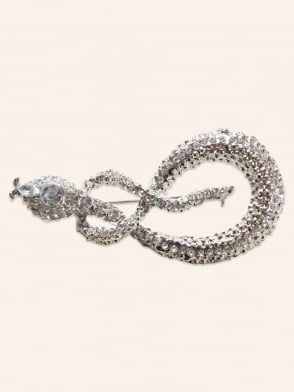 Diamante Snake Brooch