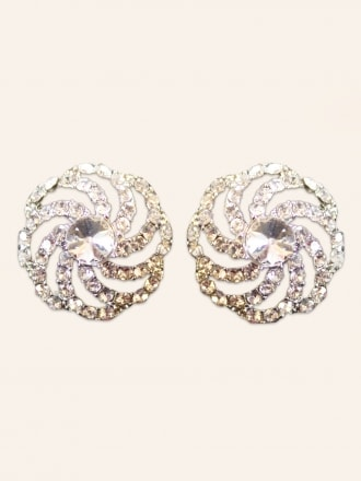 Diamante Swirl Earrings