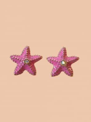 Dusky Pink Starfish Earrings