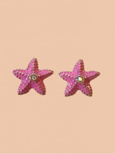 Dusky Pink Starfish Earrings