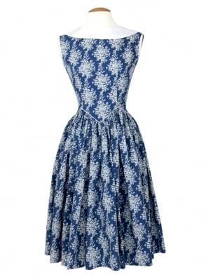 Emma Dress Floral Blue