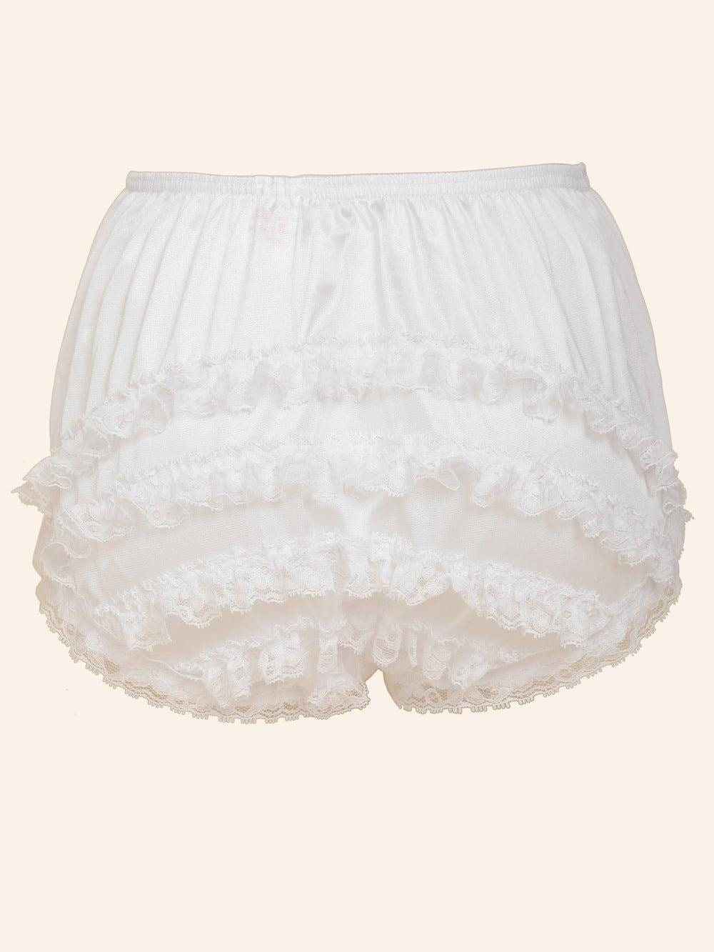 hot-selling latest best sell select for newest Frilly Knickers White