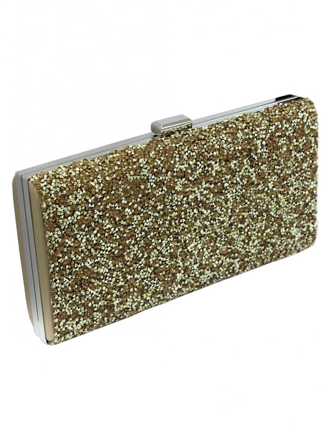 Gold Sparkle Clutch
