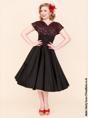 Grace Black Cherry Bust Dress