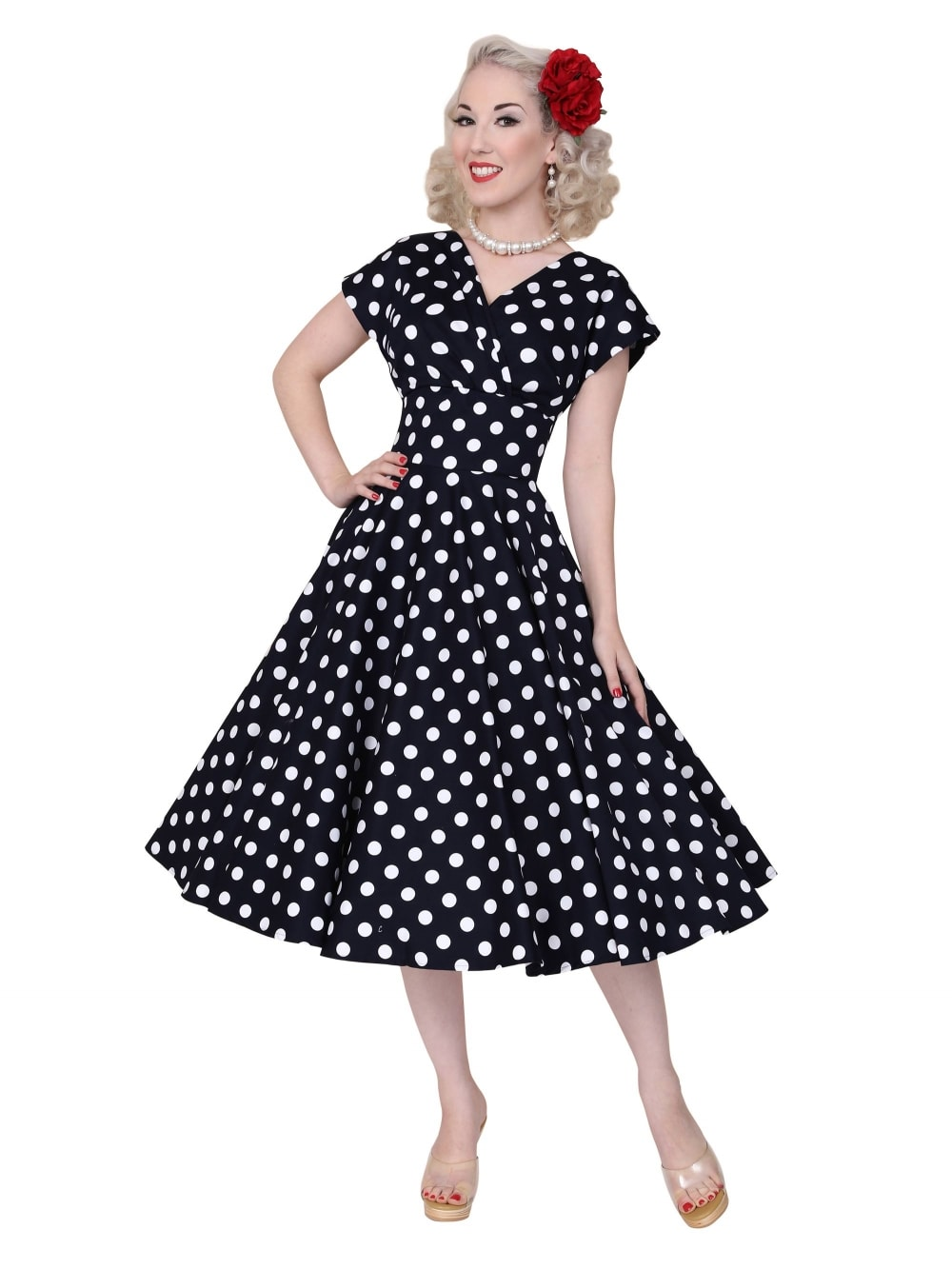 Grace Dress Black White Polkadot From Vivien Of Holloway