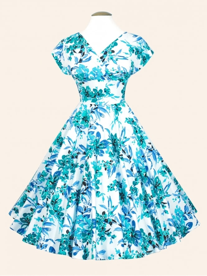 50s-1950s-Vivien-of-Holloway-Best-Vintage-Style-Reproduction-Repro-Grace-Dress-Blue-Orchid-Rockabilly-Swing-Pinups