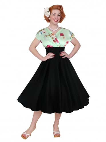 Grace Dress Green Floral Bust