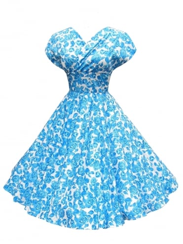50s-1950s-Vivien-of-Holloway-Best-Vintage-Style-Reproduction-Repro-Grace-Dress-White-Blue-Rose-Red-Rockabilly-Swing-Pinups