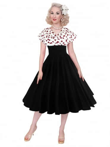 Grace Dress White Cherry Bust