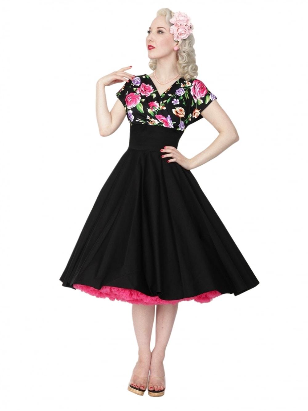 Grace Dress Floral Noir Bust from Vivien of Holloway