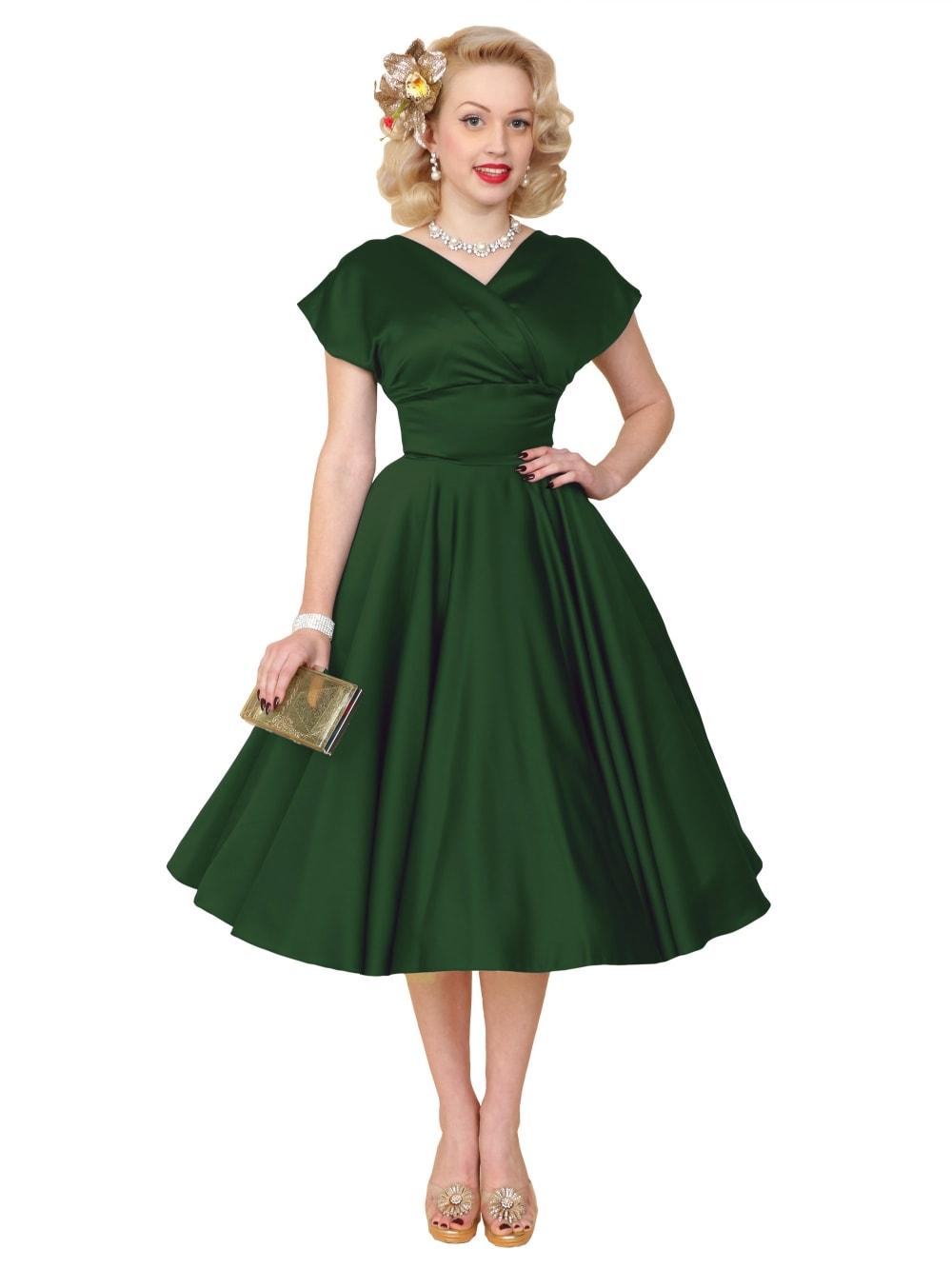 Grace Forest Green Duchess Dress from Vivien of Holloway