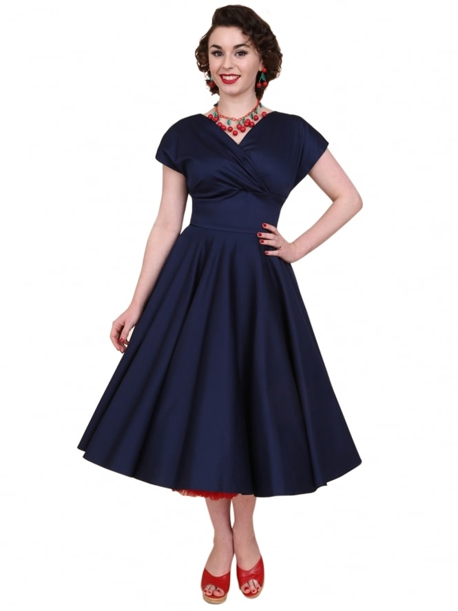 Grace Navy Sateen