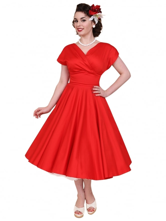 Grace Red Sateen