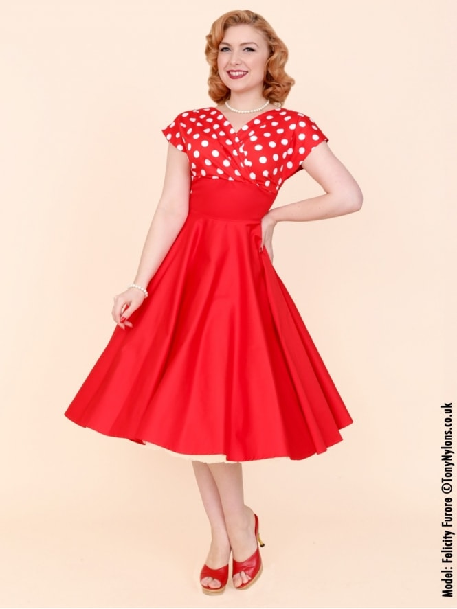 40s-1940s-Vivien-of-Holloway-Best-Vintage-Reproduction-Grace-Wrap-Circle-Dress-Red-White-Polka-Polkadot-Hollywood-Swing-Pinup