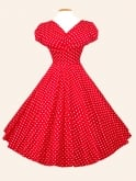 Grace Red White Spot Dress