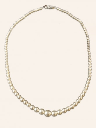 Graduated Champagne Pearl Necklace