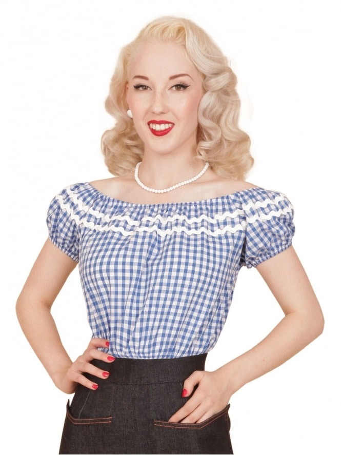 Gypsy Top Classic Gingham Blue