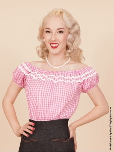 Gypsy Top Classic Gingham Pink