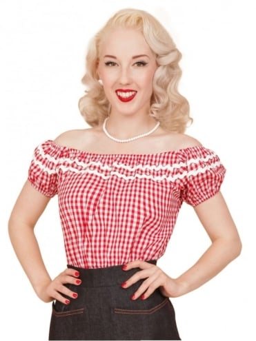 Gypsy Top Classic Gingham Red