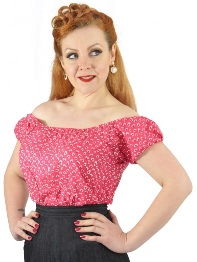 1940s-1950s-Vivien-of-Holloway-Gypsy-Top-Red-Hearts-Rockabilly-Swing-Pinup