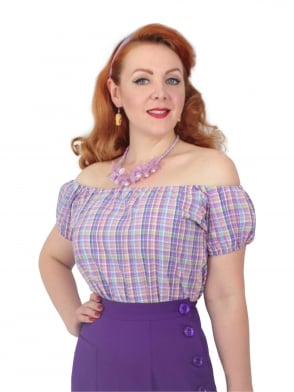 Gypsy Top Classic Seersucker Lilac