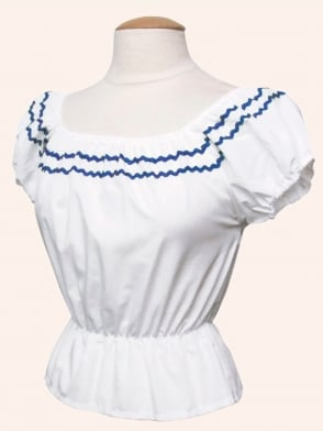 Gypsy Top Classic White Small Royal Trim