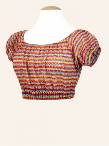 Gypsy Top Cropped Tutti Frutti