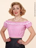Gypsy Top Midi Pink Gingham